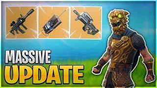 *NEW* SECRET ASSAULT RIFLE / BATTLE HOUND SKIN LEAKED! - Fortnite Battle Royale (Huge Update)