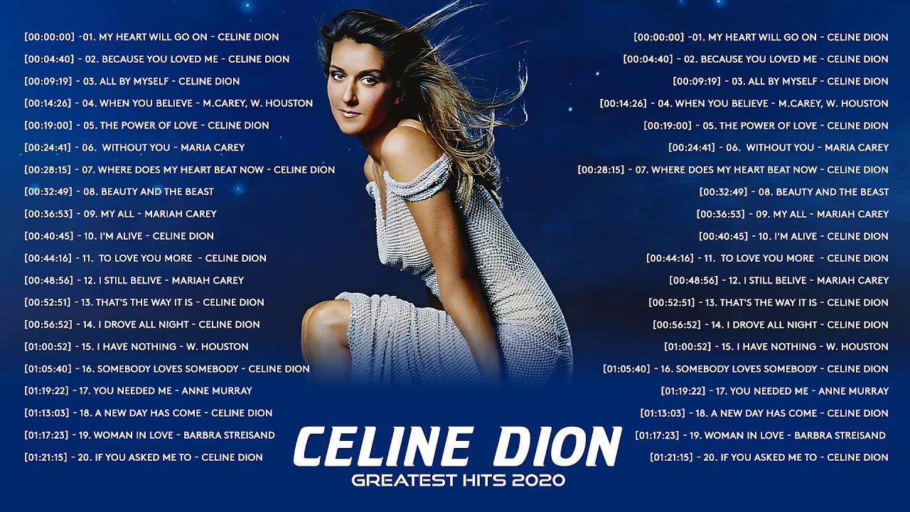 Download Celine Dion Greatest Hits Full Album 2020 - Best Songs of Celine Dion