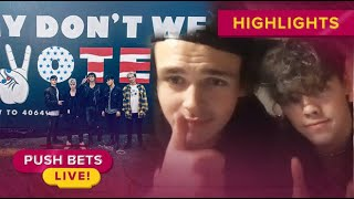 Zach Herron, Jonah Marais explain why it's important to vote | Push Bets Highlights