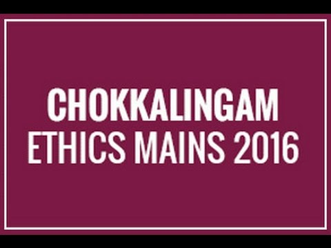Ethics Mains classes 2016 - Orientation