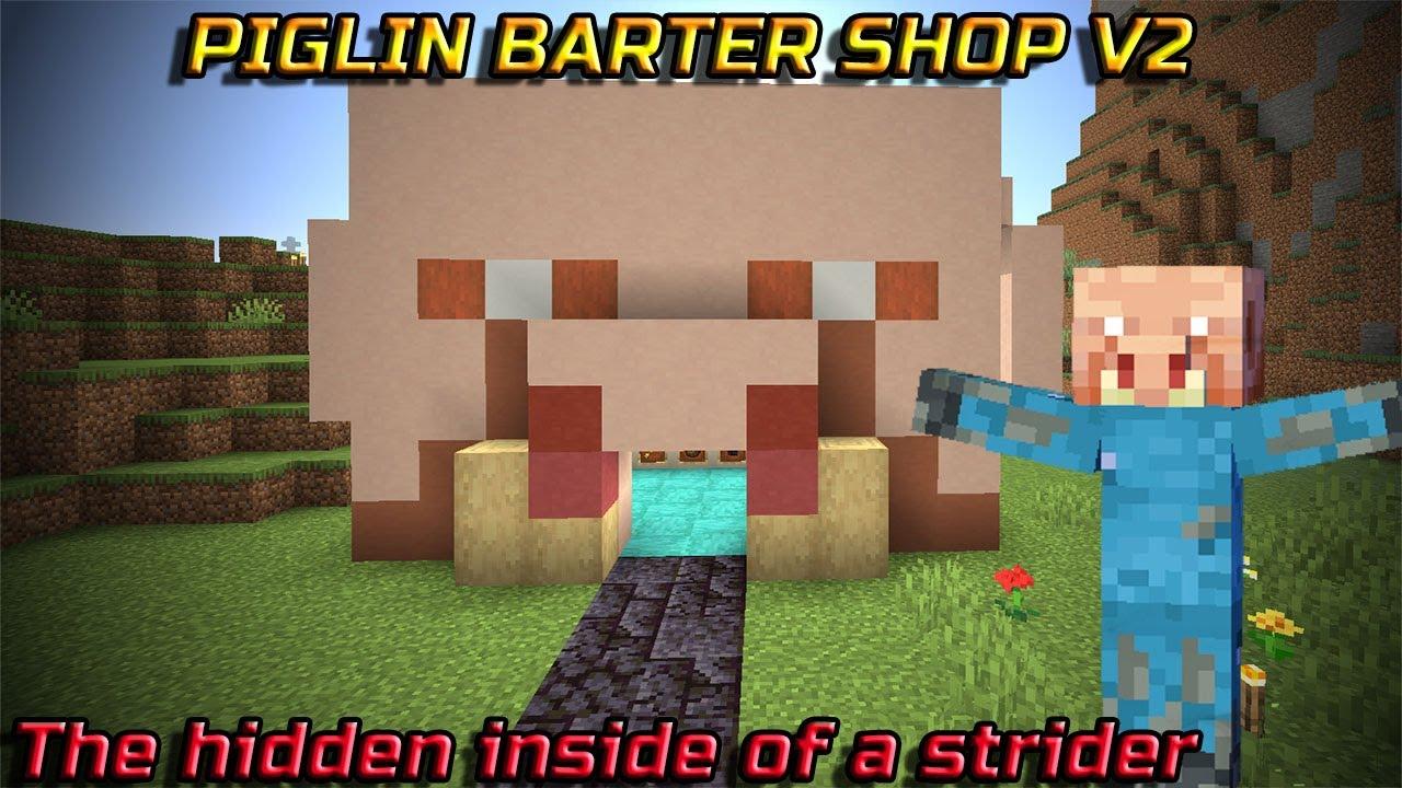Minecraft Realm Survival Piglin Shop V2 Ep29 Youtube