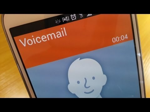 Voicemail set up / demo on Samsung Galaxy S4