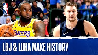 Lebron James & Luka Doncic: Unprecedented Triple-double Duel