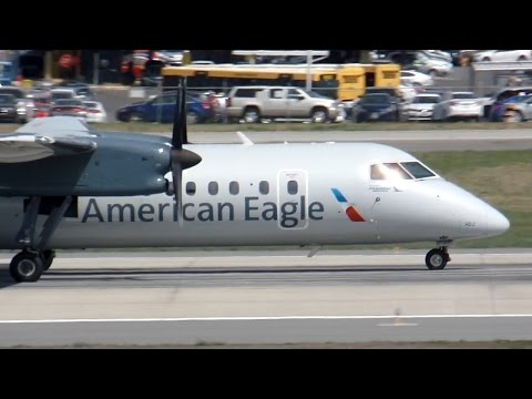 American Eagle Dash 8-311A [Piedmont Airlines] [N331EN] Takeoff Charlotte CLT