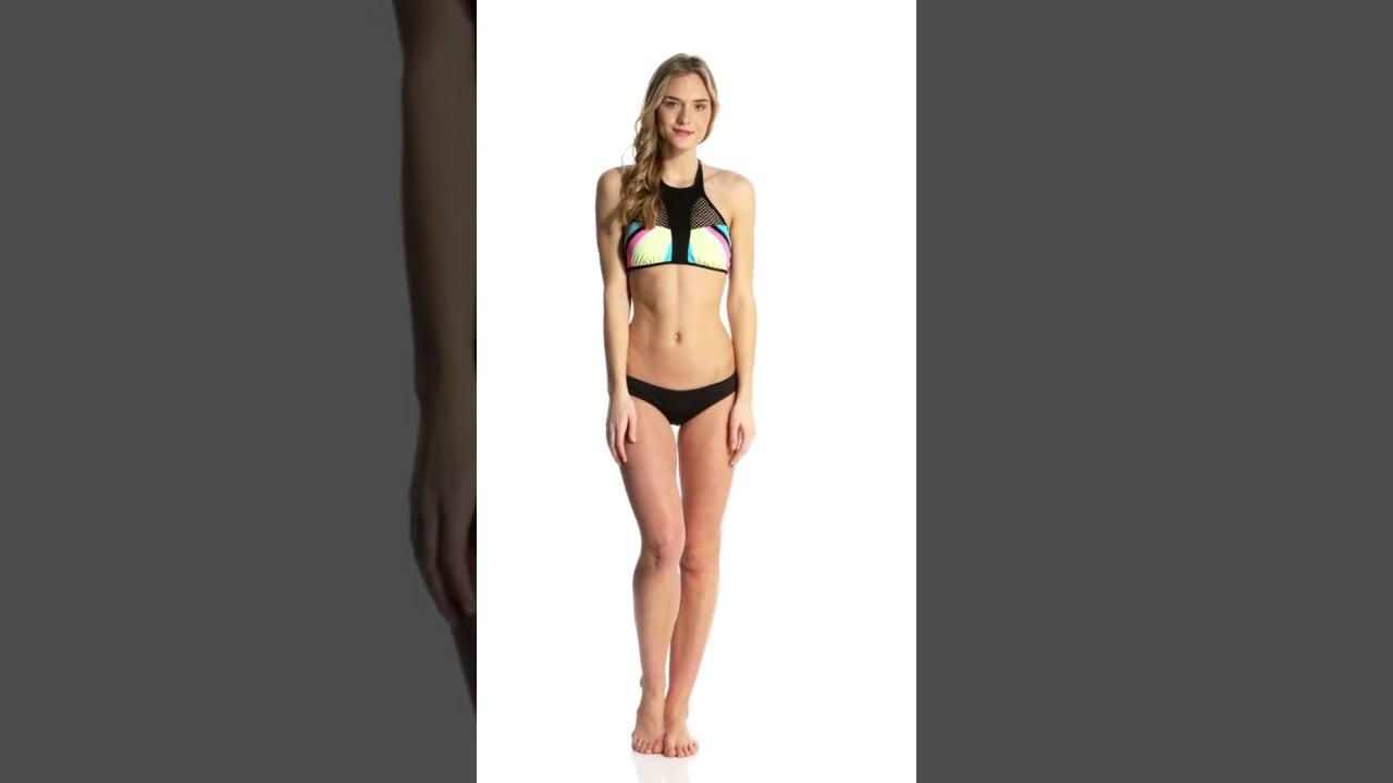 7a9bbd2fcdcfa Bikini Lab Swimwear Dancing In The Beat High Neck Bikini Top ...