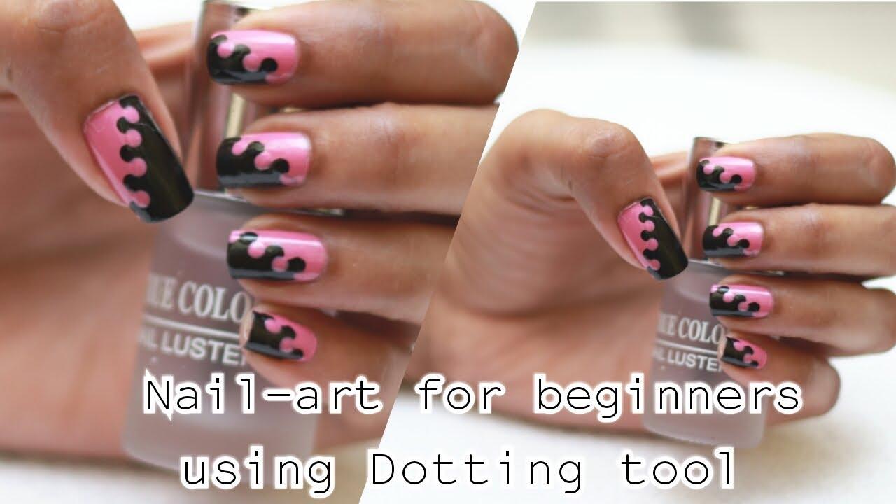 Easy Nailart For Beginners 1 Dotting Tool Nail Art Interlocking