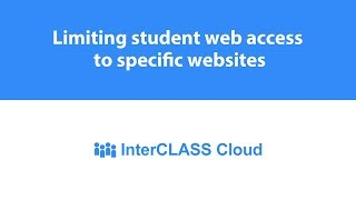 Limiting student web access to specific websites