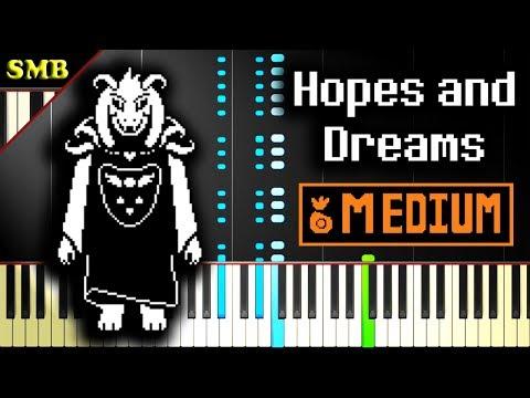 UNDERTALE - HOPES AND DREAMS - Piano Tutorial