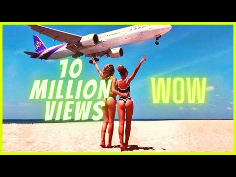Boeing Plane Landing and Take Off Footage at Maho Beach St. Maarten