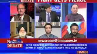Times Now News hour Debate Dr  Subramanian Swamy vs Rahul Gandhi