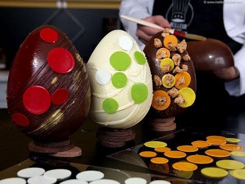 Décorer des Oeufs de Pâques en chocolat