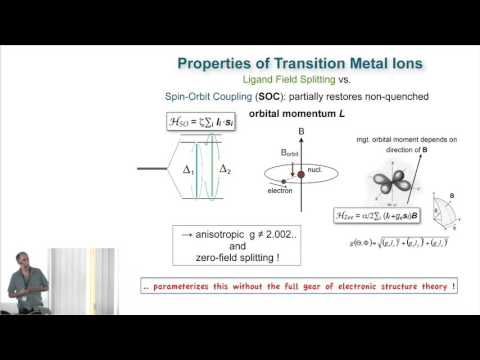 """(4) Eckhard Bill, """"Spin Hamiltonian Formalism for Transition Metal Complexes"""""""