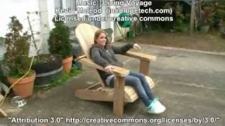 Go to http://www.buildeazy.com/adirondack-1.php for free plans, how to build a Cape Cod aka Adirondack chair. There you will see