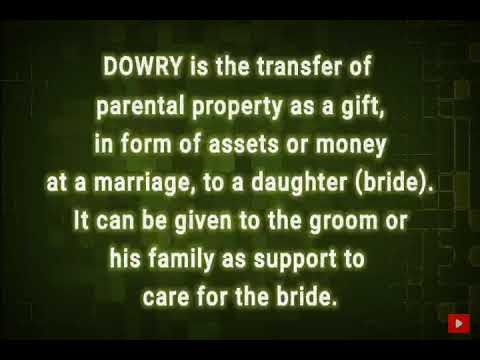 Disambiguation of Dowry, Bride price and Dower