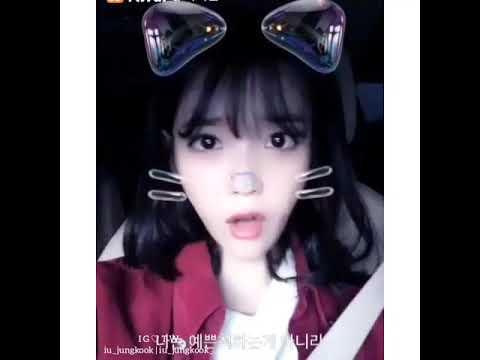 Jungkook does IU's famous Aegyo