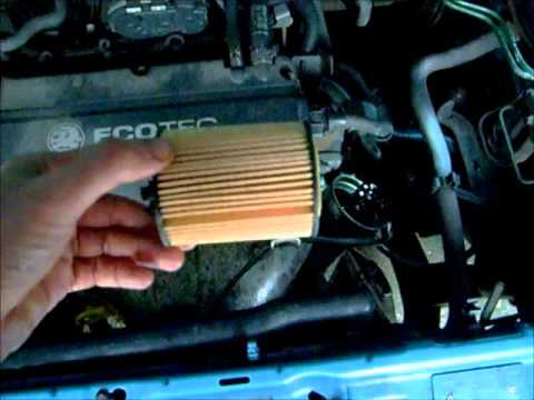 Vauxhall Corsa: Oil Change and Oil Filter Change - YouTube