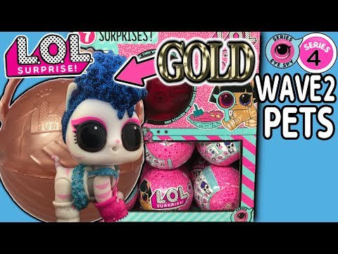 LOL Surprise Series 4 Wave 2 Gold Ball Rare Glitterati! | LOL Dolls + Pets | LOL Doll Videos | LOL