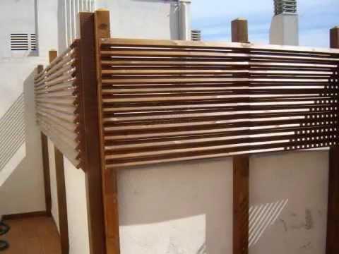 Celosias mallorquinas y rombo green deck s l youtube for Celosia madera jardin