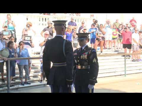 Changing of the Guard at the Tomb of the Unknowns at Arlington National Cemetery