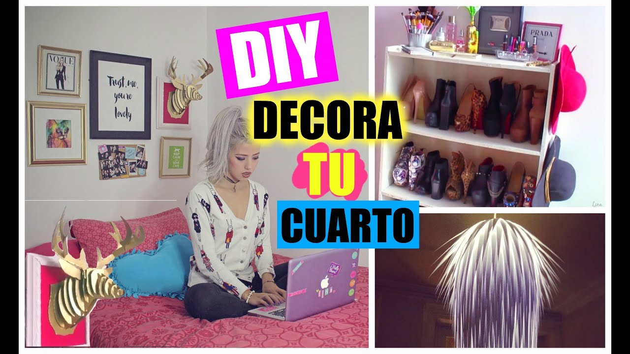 Diy decora tu habitaci n youtube for Decora tu habitacion online
