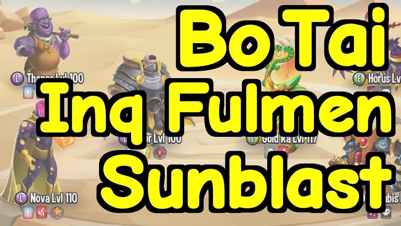 Monster Legends – Testing: Bo Tai, Inquisitor Fulmen, Sunblast