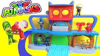 NEW PJ Masks Headquarters HQ Playset Gekko Catboy and Owlette Romeo Luna Girl Night Ninja