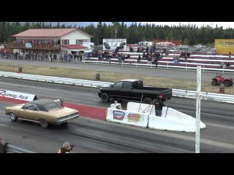 Brook Green in the fastest diesel truck in Alaska
