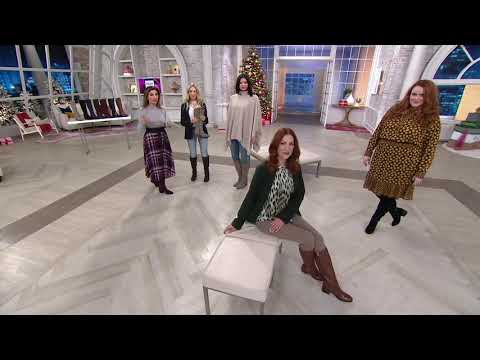 Marc Fisher Medium Or Wide Calf Leather Tall Shaft Boots - Riley On QVC