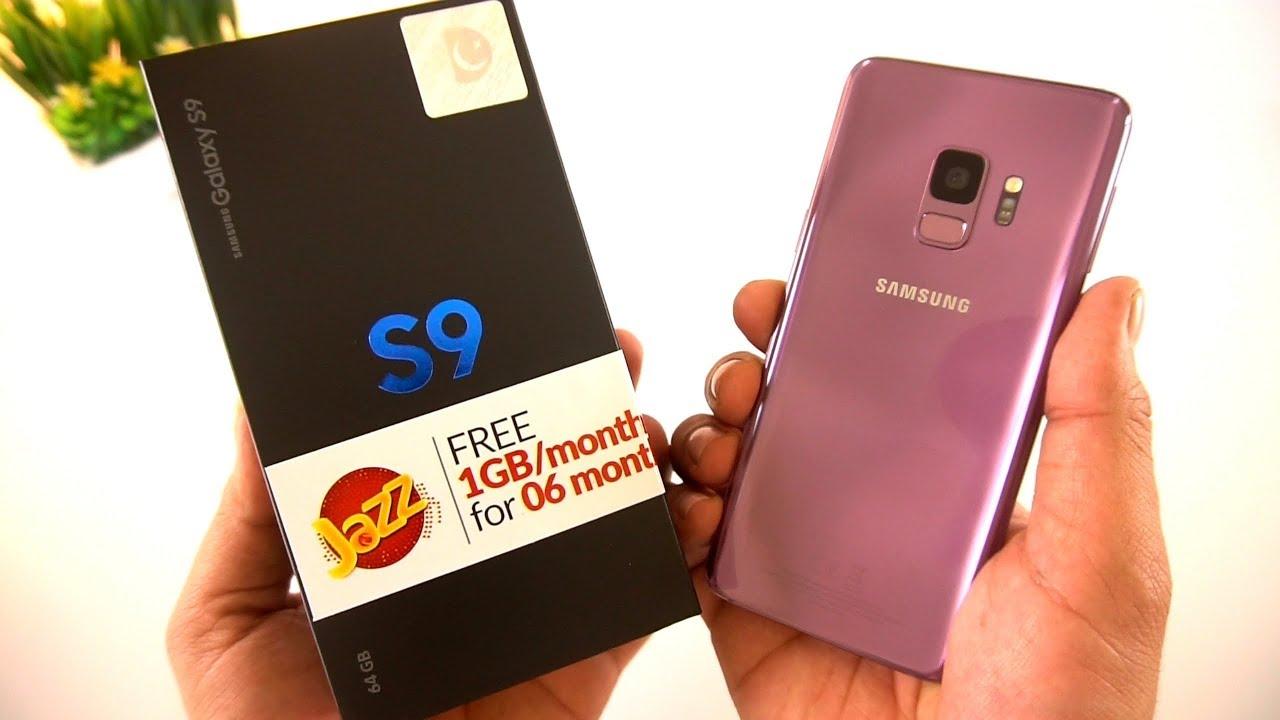 samsung s9 purple unboxing