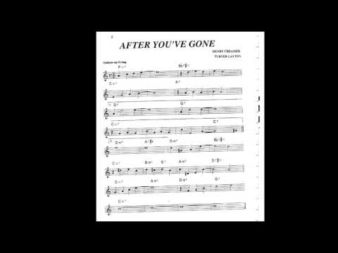 After You Have Gone Play along - Backing track (C key score violin/guitar/piano)