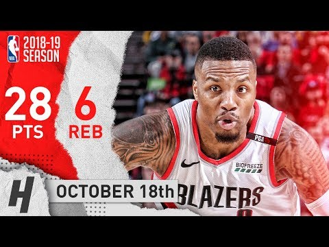 Damian Lillard CRAZY Full Highlights Blazers vs Lakers 2018.10.18 - 28 Pts, CLUTCH!