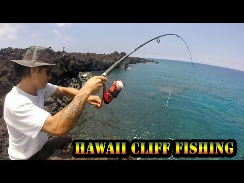 Big Island Cliff Fishing - New KastKing Baitcaster - Kiholo Bay Sesh Part 1