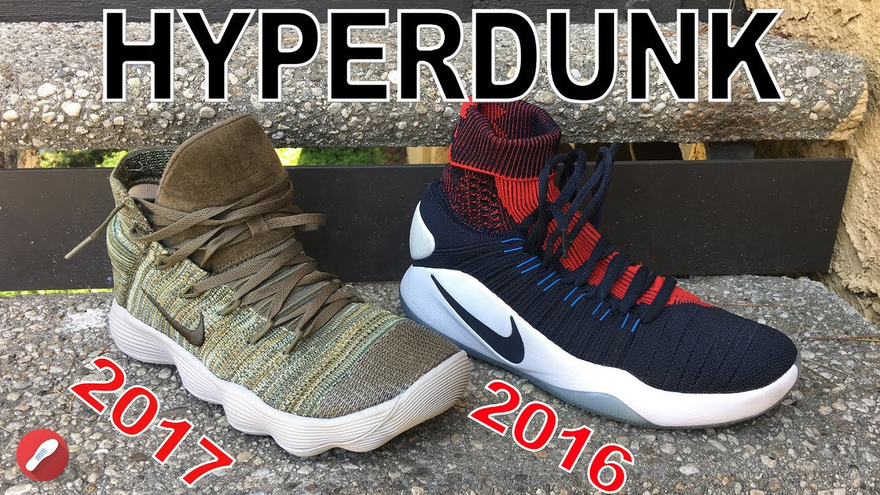 1af48461667 Nike Hyperdunk 2016   2017 Flyknit Comparison! - YouTube