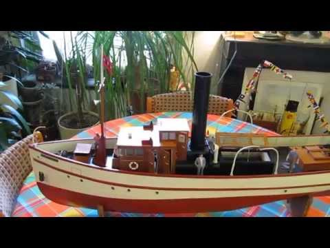 Bateau vapeur vive / Live steamboat RC : Présentation du Christiaan Brunings (maquette bateau)
