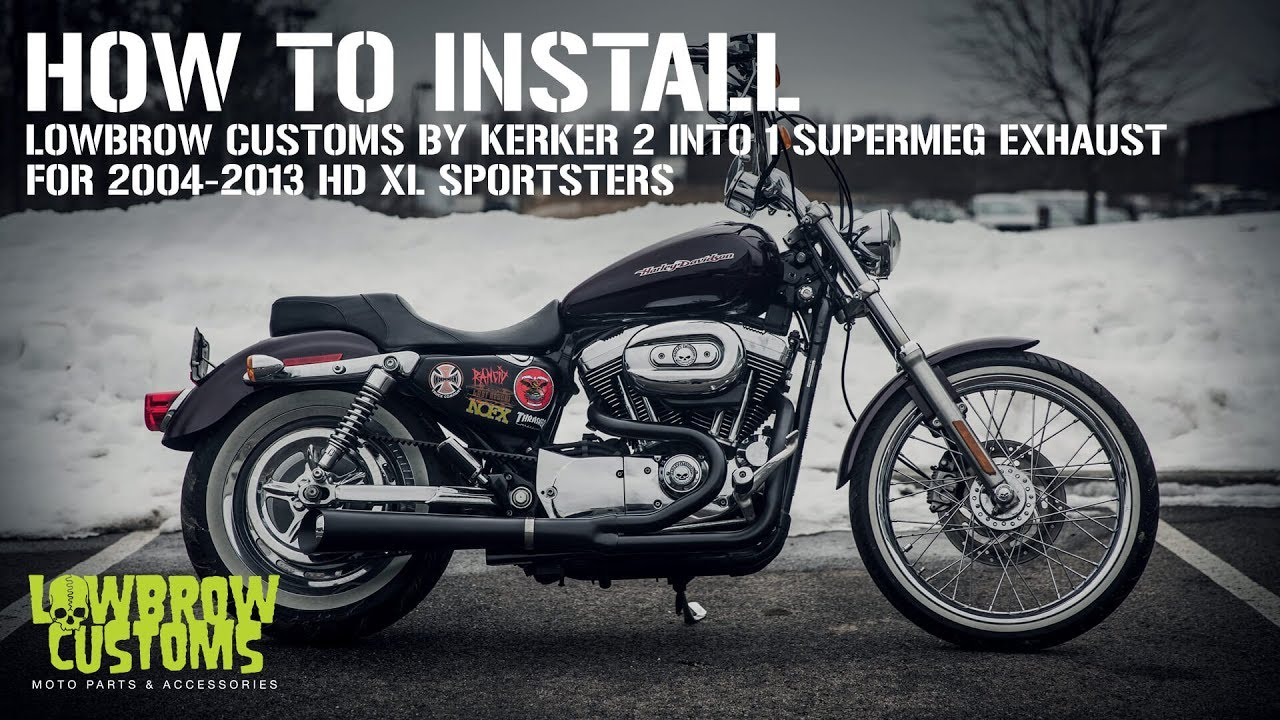 How to install: Lowbrow Customs 2 into 1 SuperMeg Exhaust by Kerker for  Harley-Davidson Sportsters