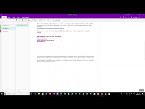 Send Email to OneNote