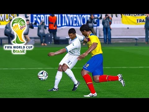 Ecuador vs. Honduras | 2014 FIFA World Cup Simulation | Pro Evolution Soccer 2014 (PES 2014)