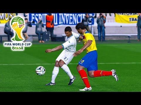 Ecuador vs. Honduras   2014 FIFA World Cup Simulation   Pro Evolution Soccer 2014 (PES 2014)