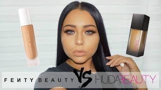 Foundation Battle: FENTY vs HUDA Review + Wear Test