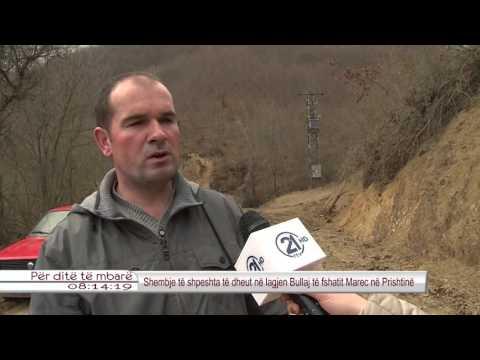 Shembje te shpeshta te dheut ne lagjen Bullaj te fshatit Marec ne Prishtine 25.03.2016