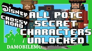 ★ DISNEY CROSSY ROAD All Secret Characters Unlocked   PIrates of the Caribbean Update