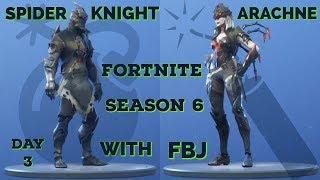 """NEW""SPIDER KNIGHT/ARACHNE/FORTNITE BATTLE ROYALE/DAY3/WITH FBJ"