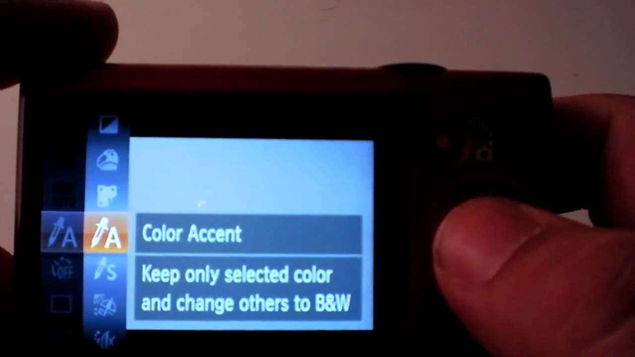 Color Accent the northern tech - canon powershot elph 300hs - how to use accent
