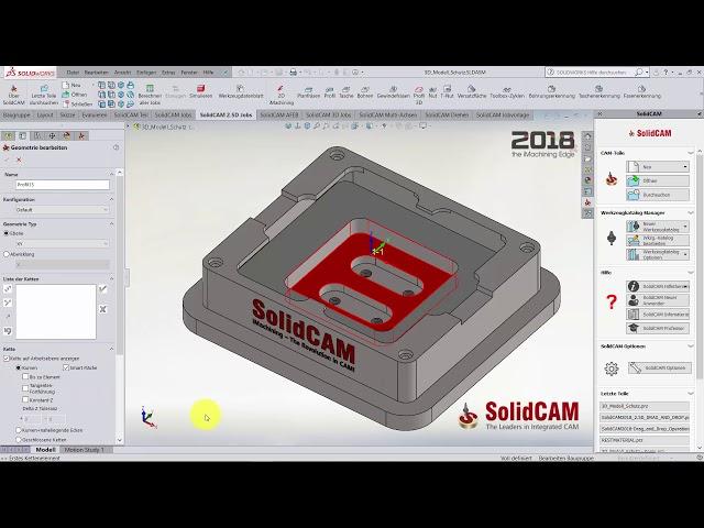 SolidCAM 2018 – Restmaterial in Z-Ebenen