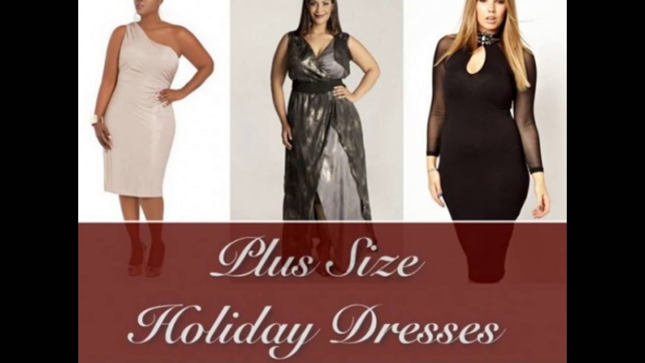 Plus Size Holiday Dress - YouTube