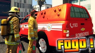 GTA V: BOMBEIROS - Apagando incêndios de S10 #8