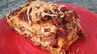 Lasagna with Meatless Sauce - Meatless Monday Week 36