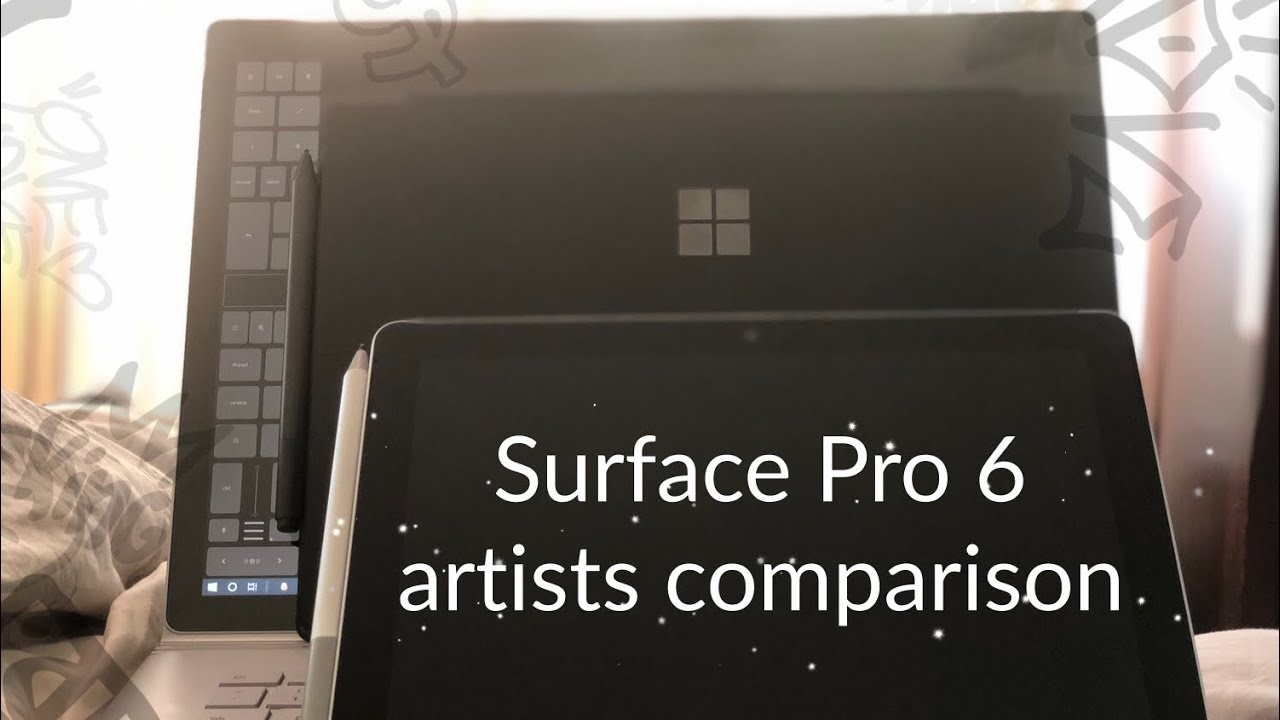 Surface Pro 6 - Photoshop and Painter 2019 test
