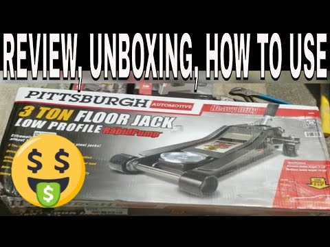 pittsburgh-3-ton-floor-jack-low-profile-rapid-pump-unboxing-review-how-to-use