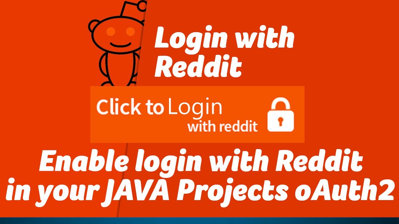 Enable Login with Reddit on your JAVA Projects